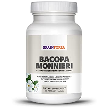Amazon Com Brain Forza Indian Bacopa Monnieri Extract For Learning