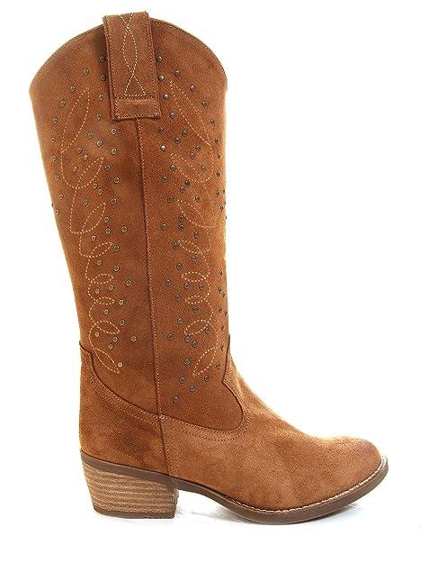 Buylevard Botas Camperas tachuelas Cowboy Ante Zapatos Zapatos Zapatos y 45b08d