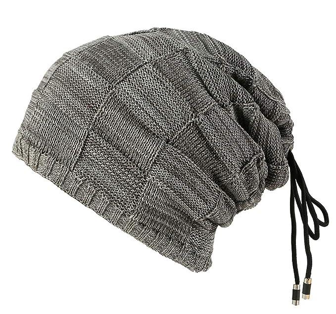 Mattelsen Gorro Invierno para Hombre Slouch Beanie De Espesor Calentar Sombreros Gorras de Aabrigo Diseño Clásico