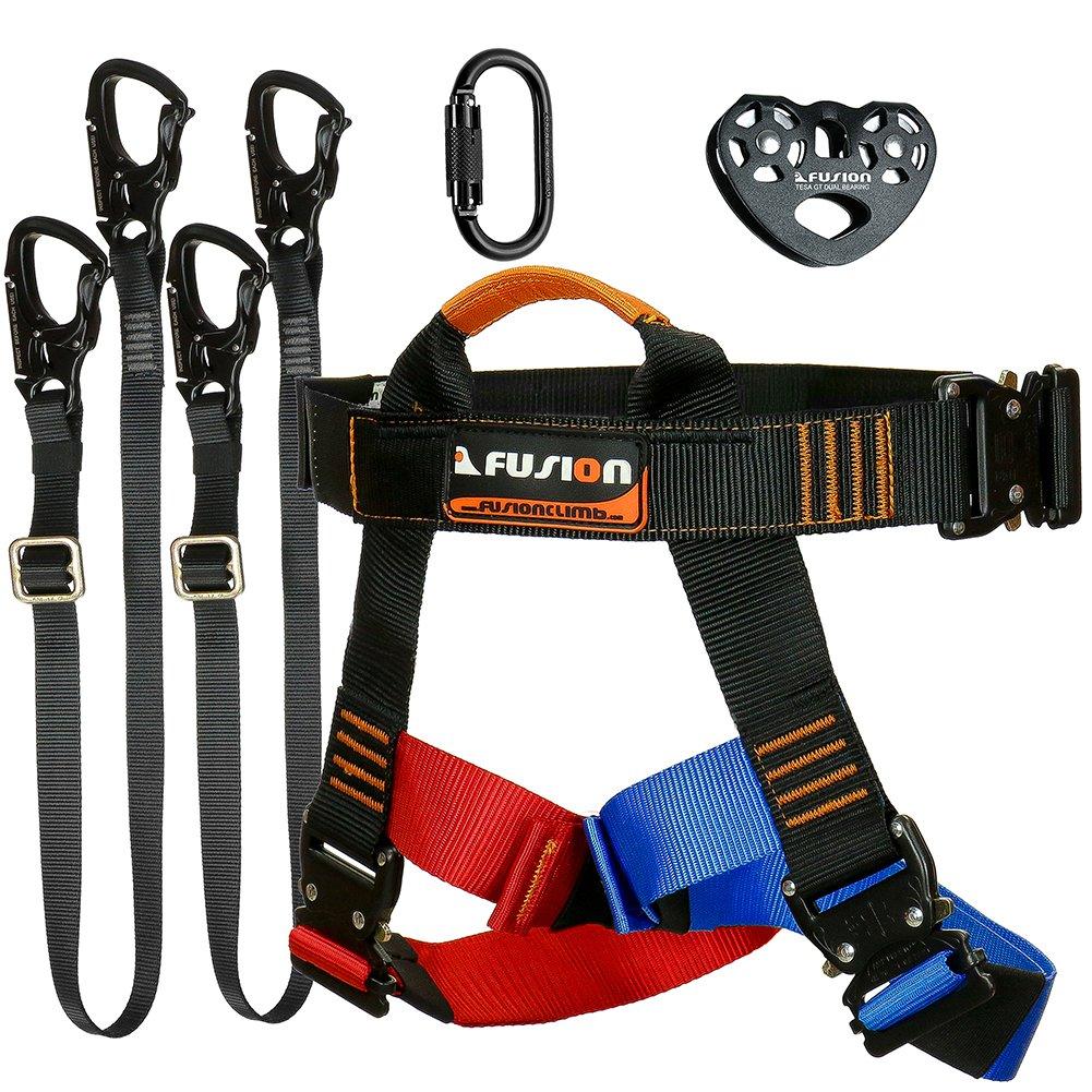 Fusión Climb Tactical Edition adultos Zip línea comercial Kit de ...