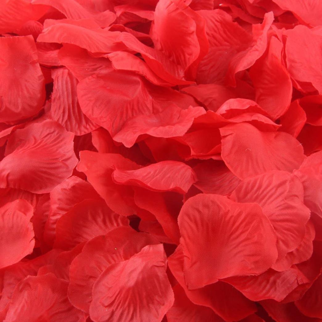 Willtoo(TM) 200pcs Silk Artificial Rose Petals Wedding Decor Confetti (Gold) Coromose