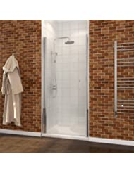 28 2/5 - 30 In. W x 72 In. H One Panel Pivot Shower Doors, Clear Glass in Chrome Finish