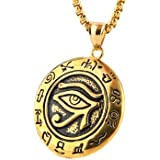 Amazon sterling silver egyptian eye of horus pendant pendant hzman mens stainless steel egypt eye of horus symbol of protection pendant necklace mozeypictures Image collections