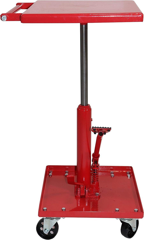 Dragway Tools Hydraulic Adjustable Lawn Mower Lift 220 lb Table