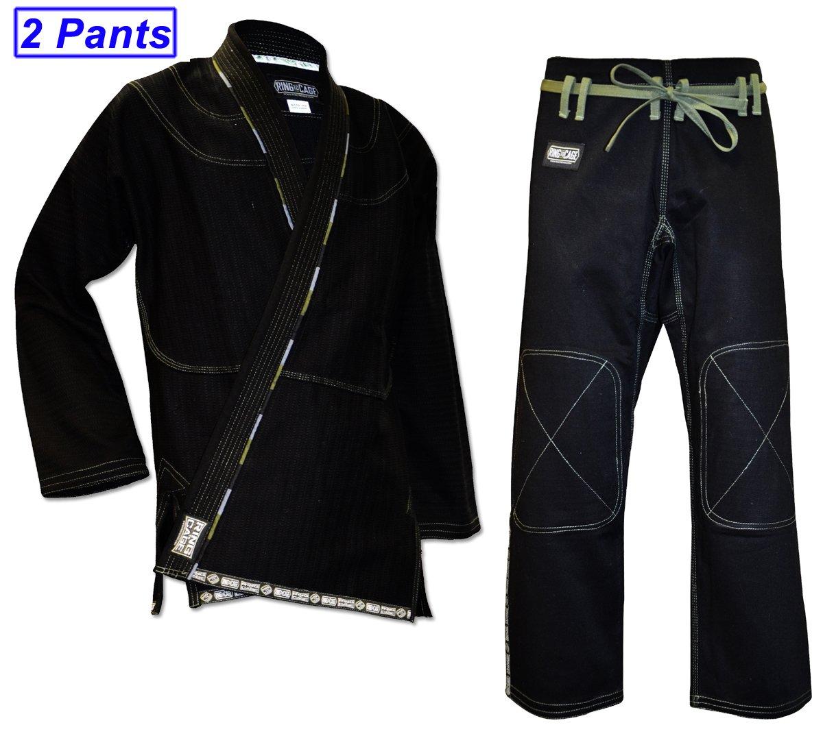 人気絶頂 Ultima – Brazilian Jiu Jitsu Pairs Gi Gi with 2 Pairs ofパンツ – ブラック B00IC62FD4 A3, ダイワホーサン Dランド:76a8ee68 --- arianechie.dominiotemporario.com