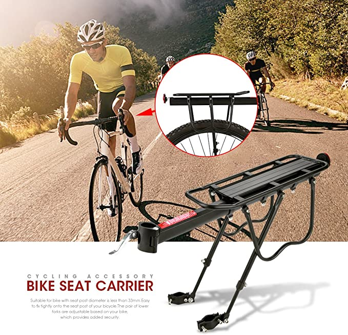 Bicycle Rear Seat Luggage Shelf Mountain Bike Aluminum Frame Carrier Holder Rack