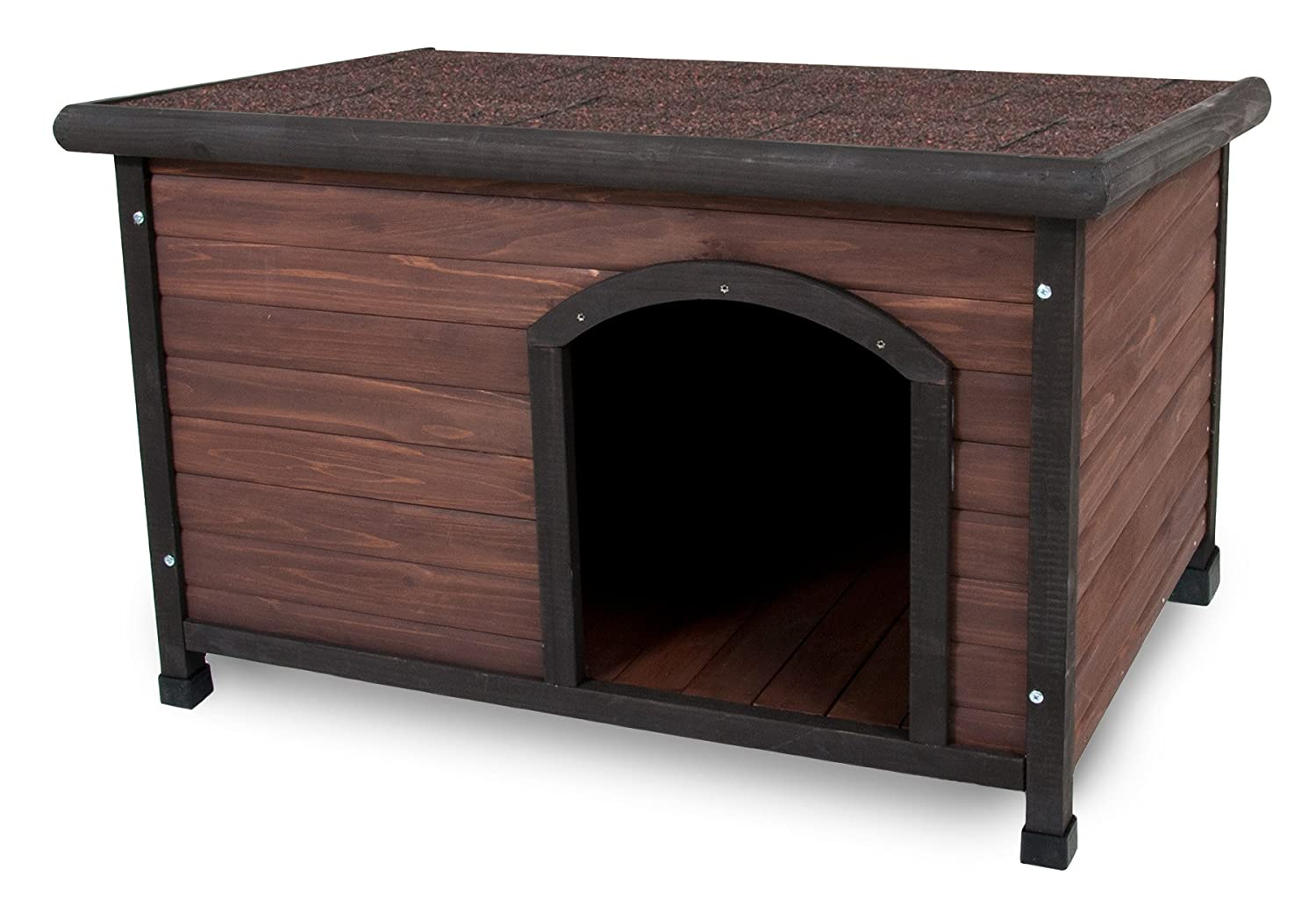 Amazon.com  Aspen Pet Ruff Hauz Off Set Door Dog House 25 to 50-Pound  Dog Pens Kennels Cat Pens Inclosures  Pet Supplies  sc 1 st  Amazon.com & Amazon.com : Aspen Pet Ruff Hauz Off Set Door Dog House 25 to 50 ...