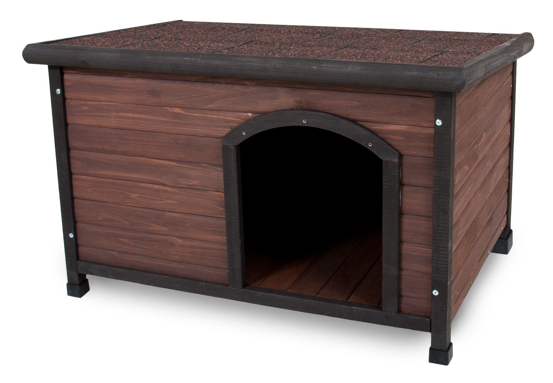Aspen Pet Ruff Hauz Off Set Door Dog House, 25 to 50-Pound