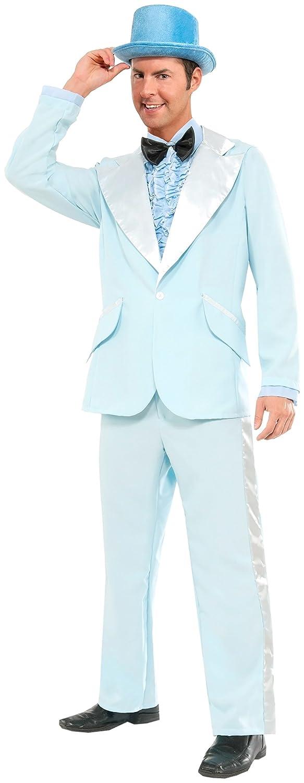 Forum Novelties Men's Instant Zip-up 50's 50's 50's Tuxedo Costume, Blau, Large 6b7d9d