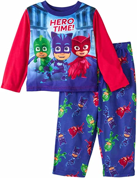 PJ Masks Litte Toddler Girls It/'s Time To Be A Hero Fleece Pajama Set