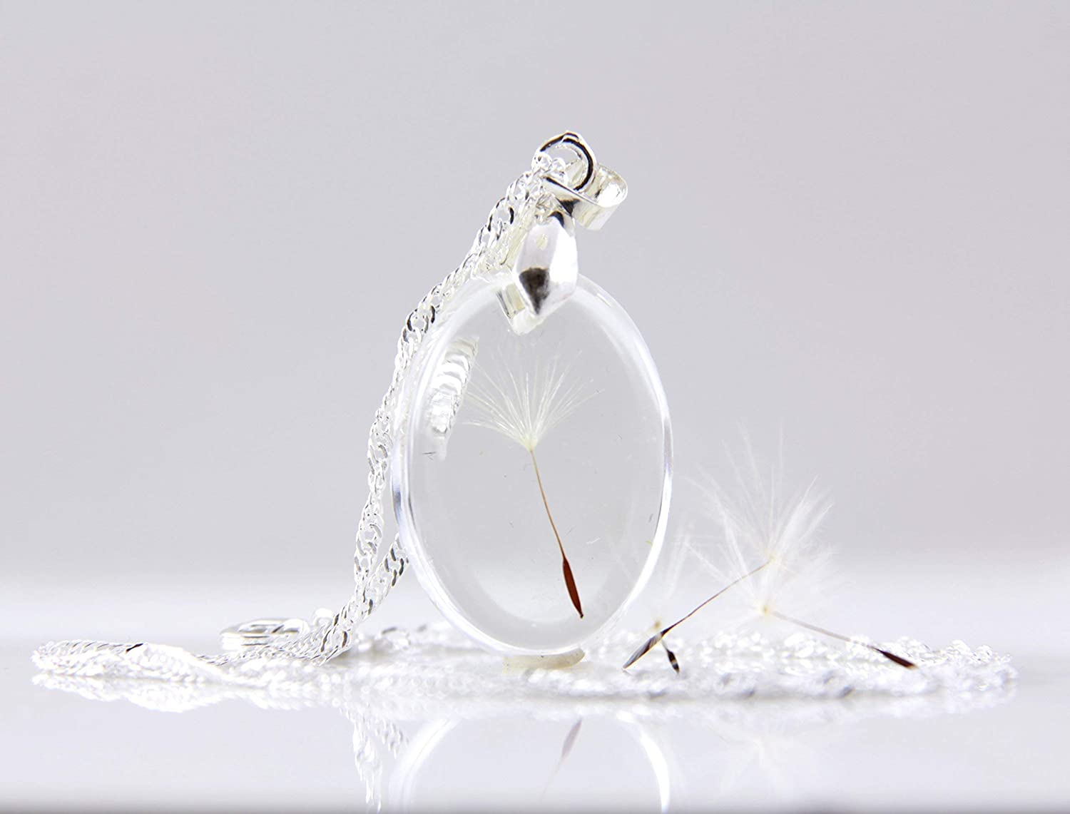 Real Dandelion Seed Make a Wish Handmade Sterling Silver
