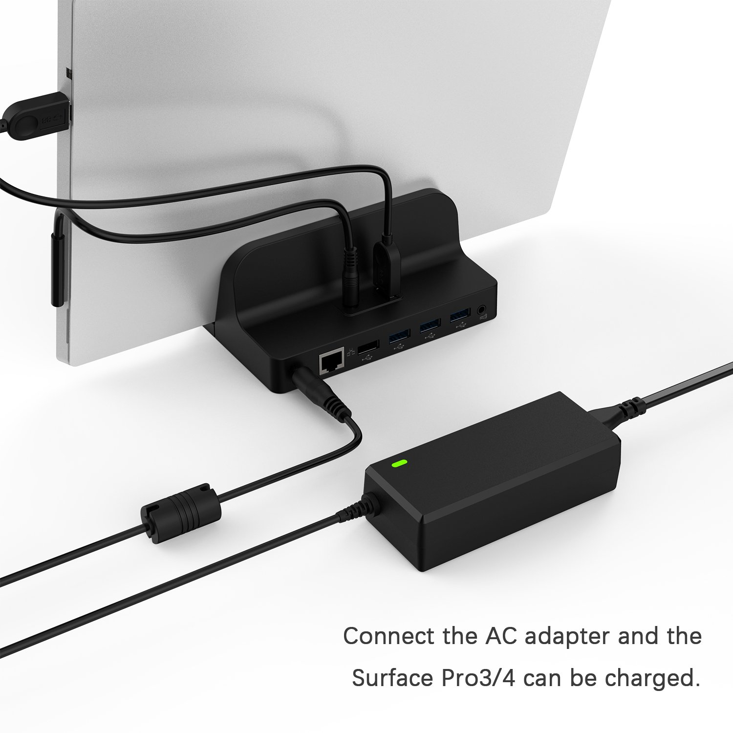 GOOQ Microsoft Surface Dock, Laptop Docking Station Charger Stand for Microsoft Surface Pro 3/Pro 4 by GOOQ (Image #5)