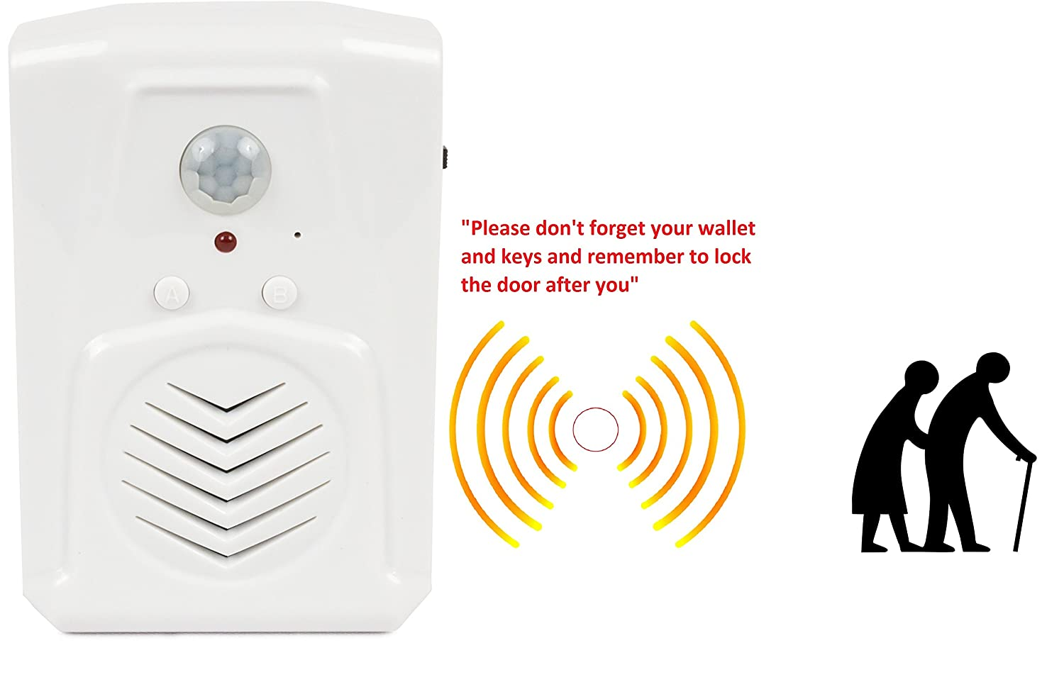 Door Greeter Daily Reminders Exhibits Perfect for Independent Living Tradeshows Portable /& Recordable Motion Activated Voice Player with Built-in Microphone Point of Sale Advertising