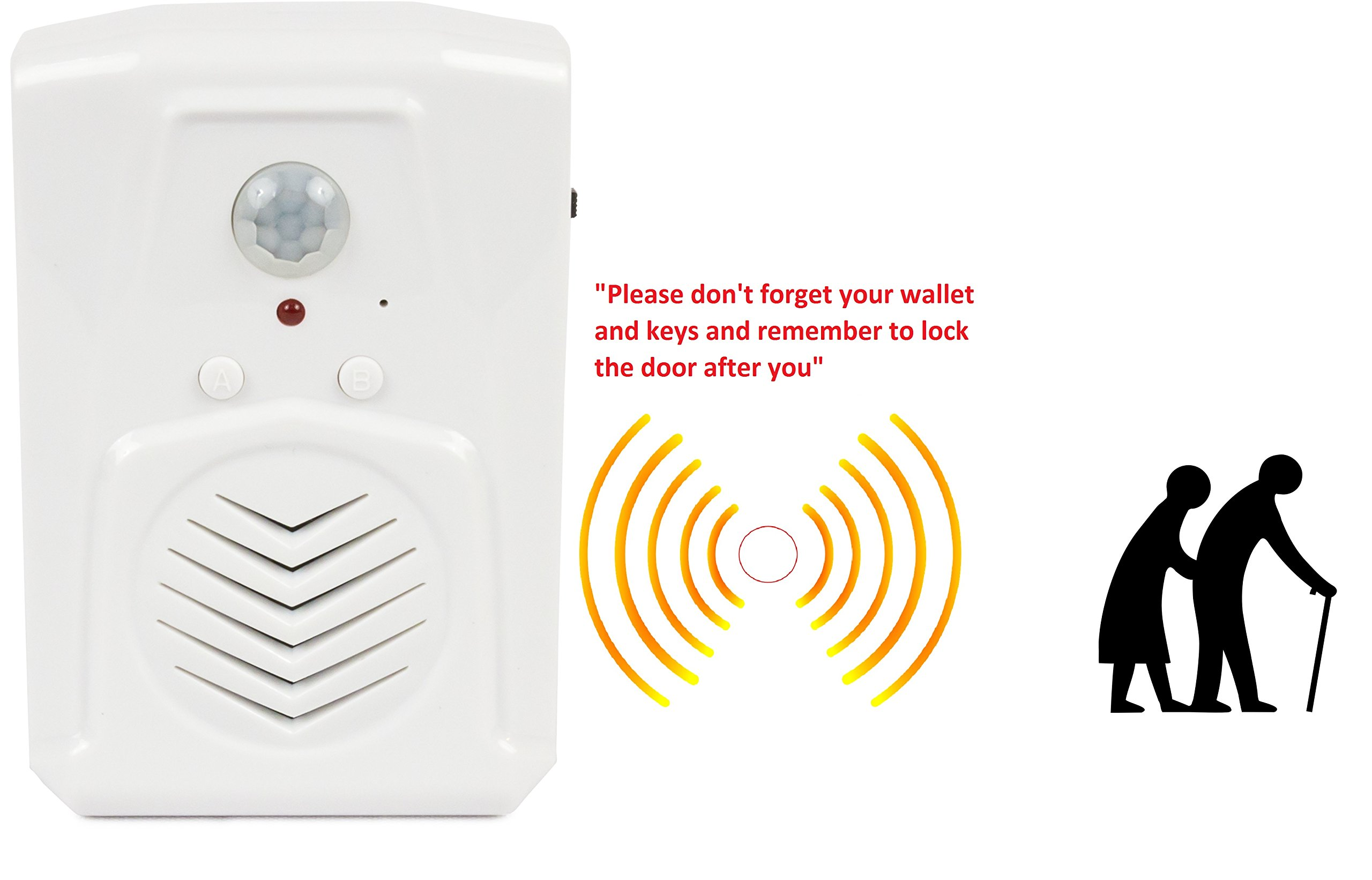 Motion Activated Voice Player with Built-in Microphone, Recordable – Perfect for Independent Living, Point of Sale Advertising, Door Greeter, Exhibits, Tradeshows, Daily Reminders, Entry Alert by SierraTeck (Image #3)