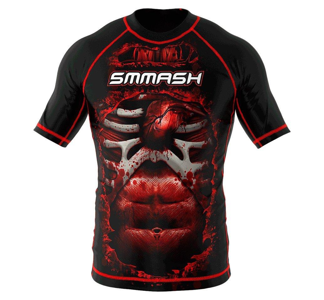 Rashguard SMMASH BLOOD 3.0 manga corta MMA BJJ UFC S M L XL XXL XXXL SMMASH X-WEAR
