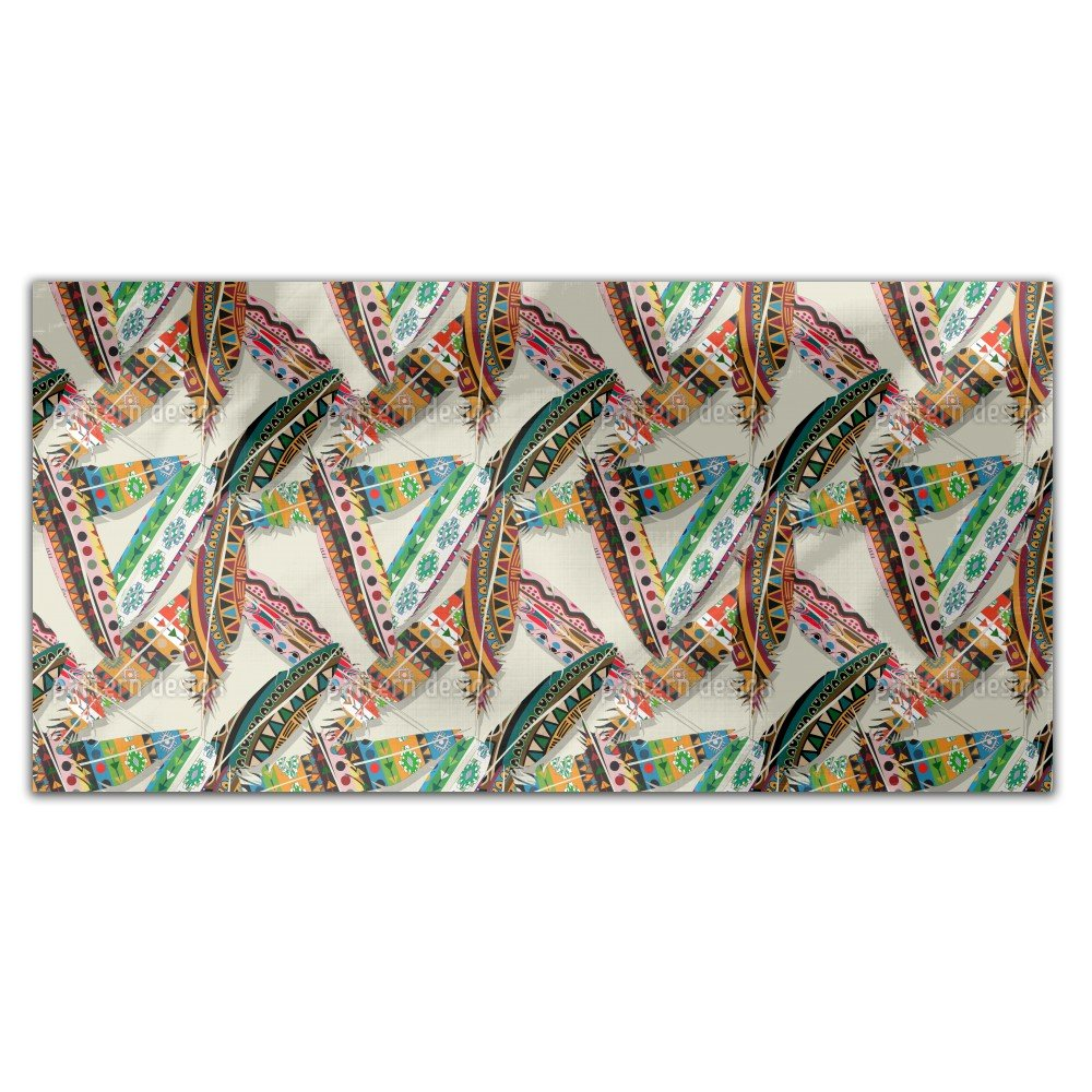 Ethno Feathers Rectangle Tablecloth: Medium