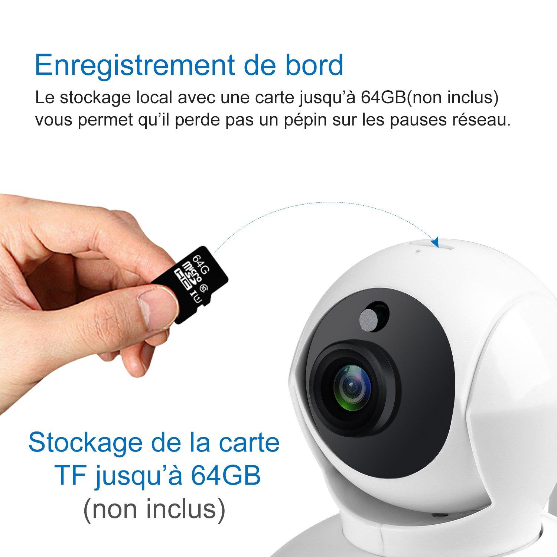 Sannce 720p Ip Cam Ra Wifi Infrarouge S Curit De Vid O Surveillance