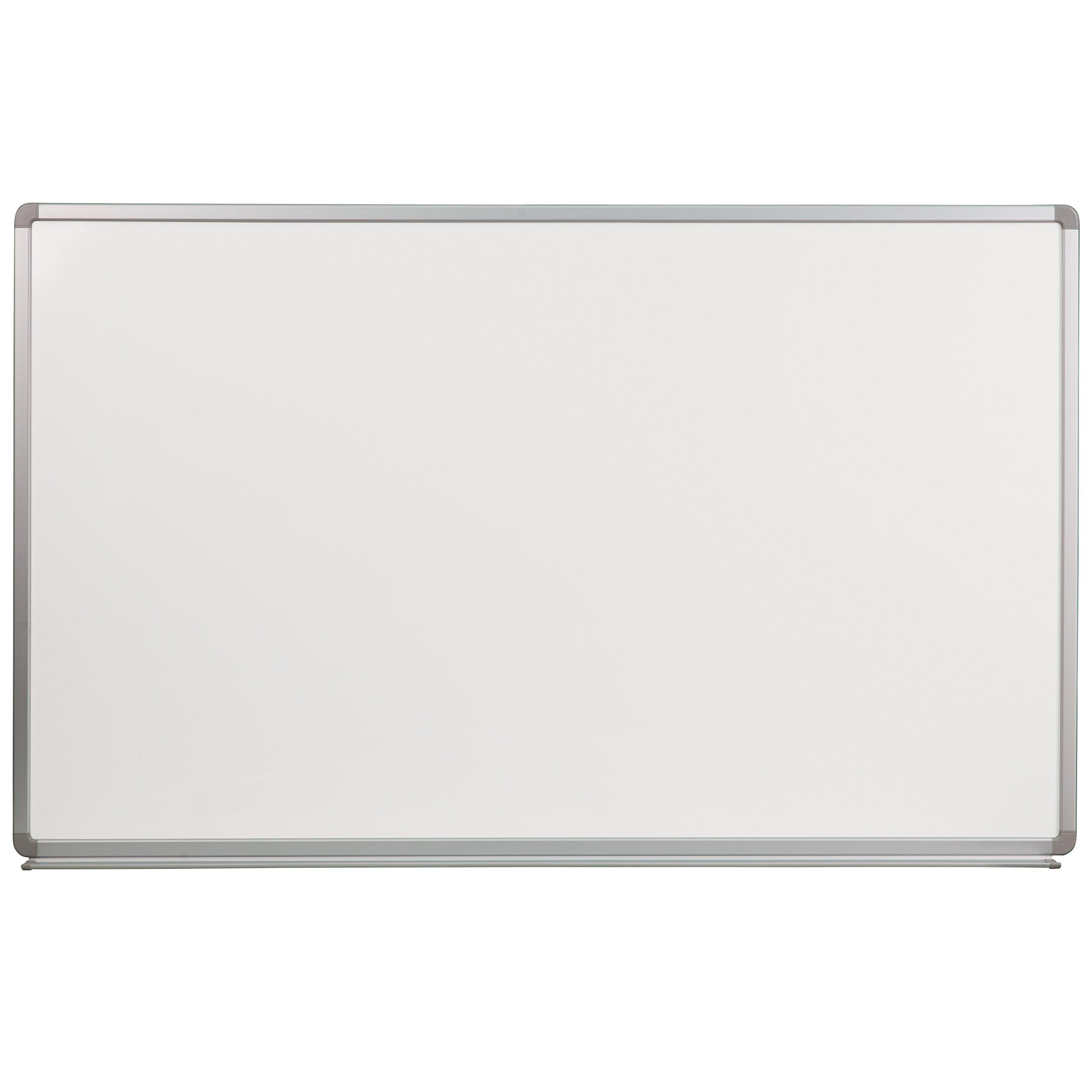 Flash Furniture 5' W x 3' H Porcelain Magnetic Marker Board by Flash Furniture