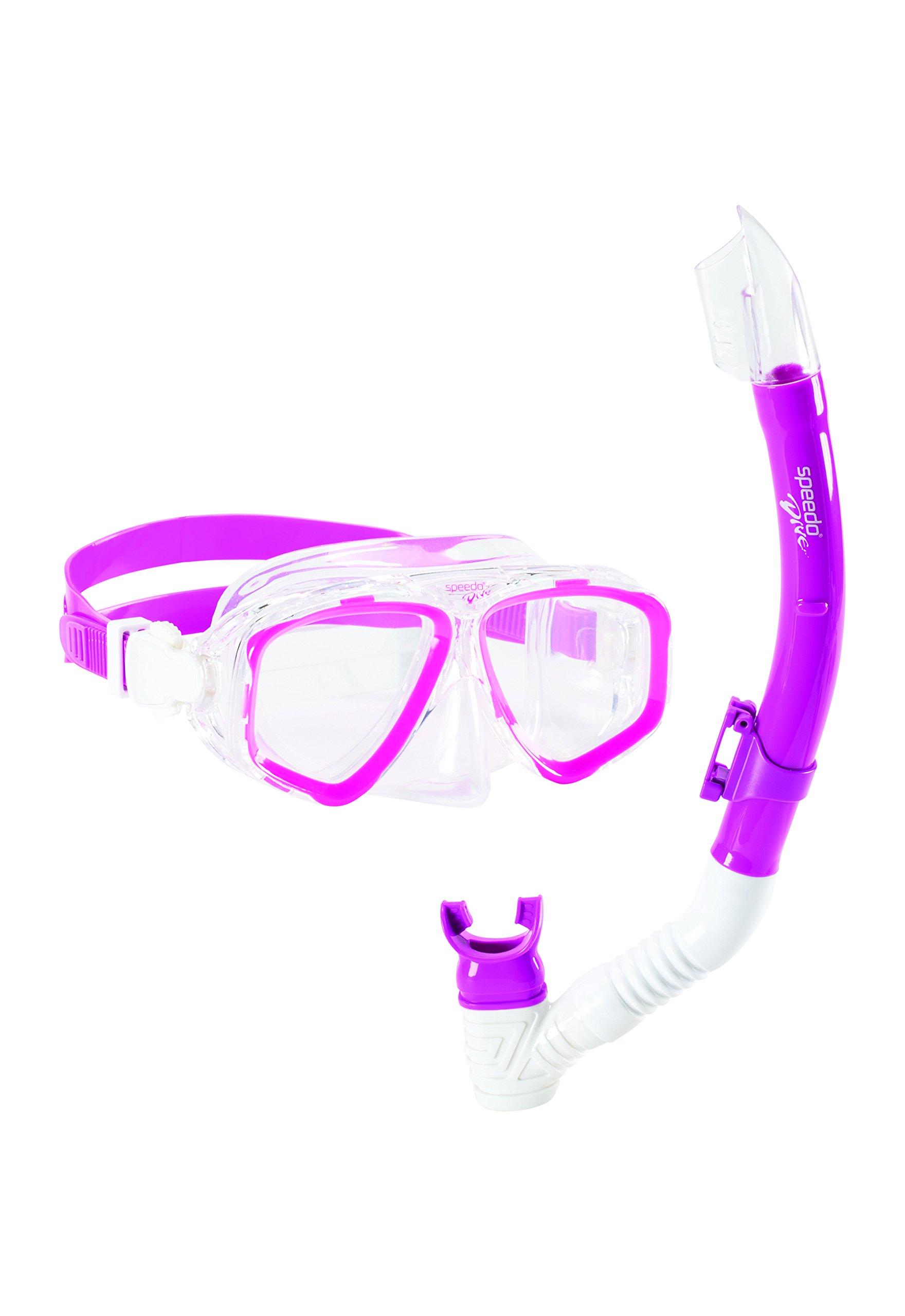 Speedo Adventure Mask/Snorkel Set, Pink Frost, One Size by Speedo