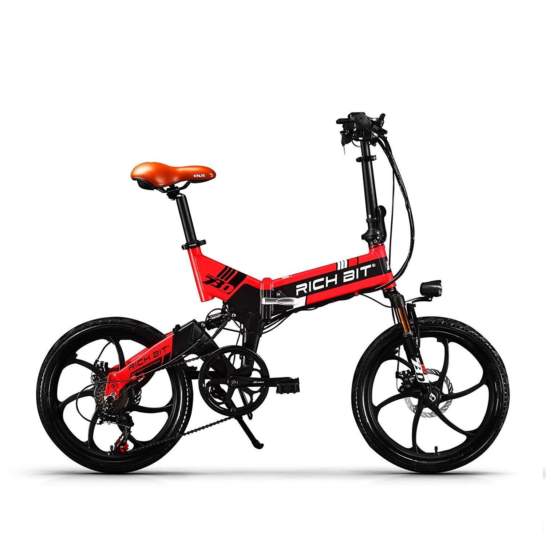 RICH BIT TP730折りたたみ電動アシスト自転車 20タイヤ シマノ7段変速 ミニタイプ 電動自転車 軽量 アクセルと充電器付き B074JZJ4HK