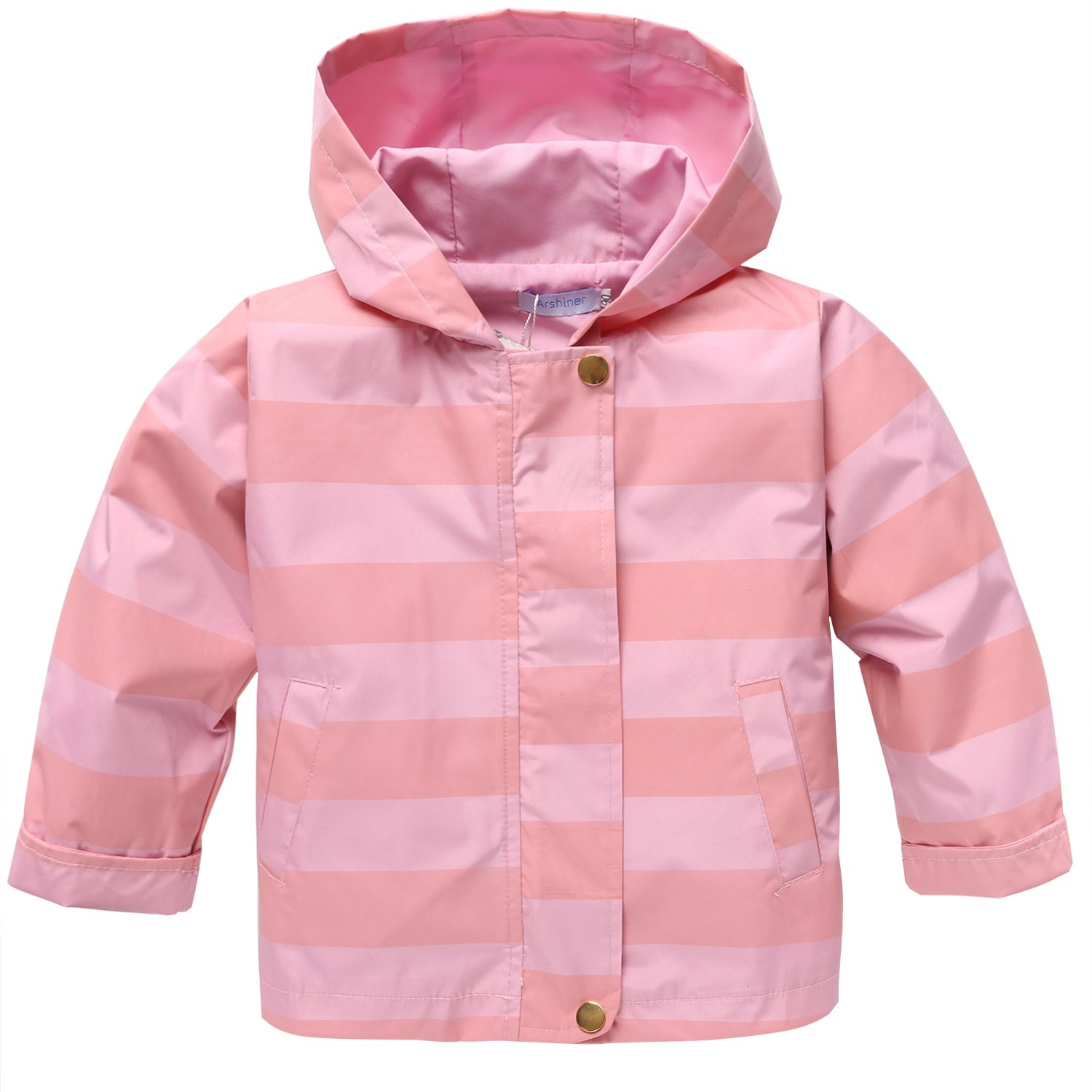 Arshiner Girls Baby Waterproof Rain Coat Jacket Outwear Trench With Hooded **AMM004998_P_110