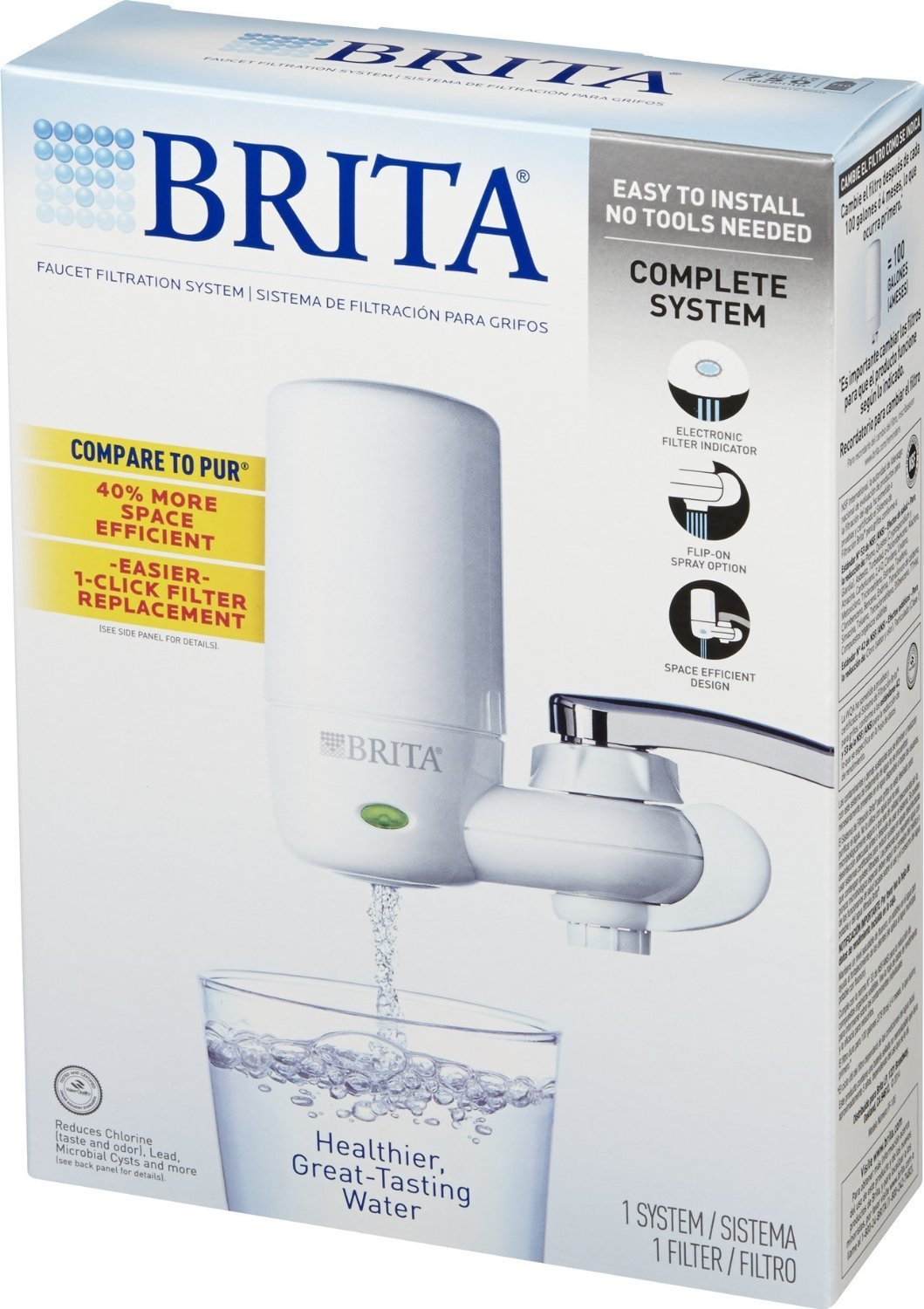 Brita On Tap Faucet Water Filter System, Includes:1 System+2 Filters ...