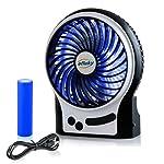 efluky ミニ扇風機 USB充電式扇風機 卓上扇風機 ミニ サーキュレーター おしゃれ 人気 省エネ コンパクト 3 レベルの速度調節可能