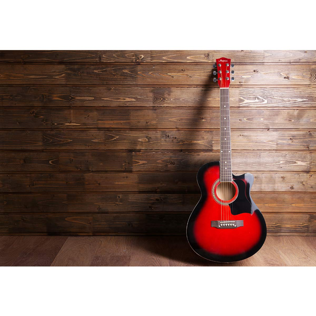 azul brillante correa selecciones cuerdas ARTALL 39 Inch Guitarra Cutaway ac/ústica de madera maciza hecha a mano Kit para principiantes afinador