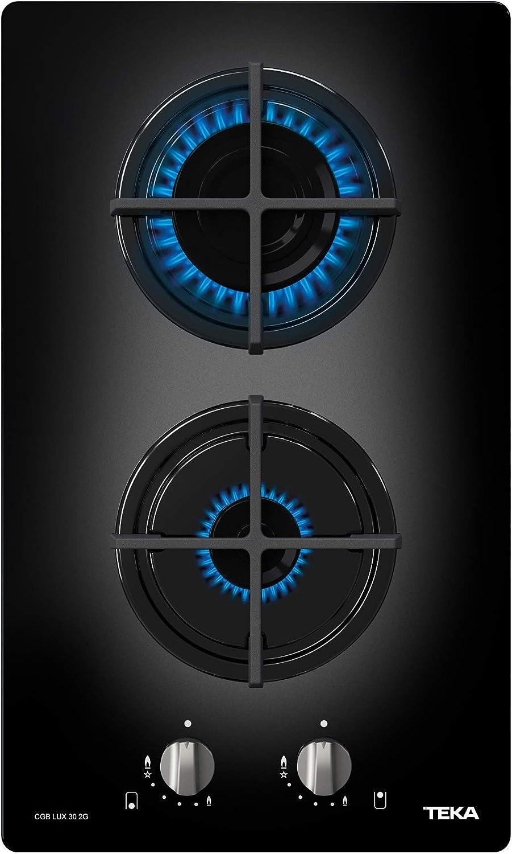 Teka CGB LUX 30 2G AL CI Integrado Encimera de gas butano Negro - Placa (Integrado, Encimera de gas, Negro, 1000 W, 2800 W, Giratorio), 300 mm de ...