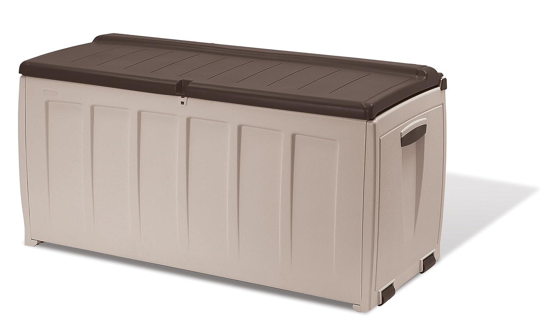 Furniture Box Keter Deluxe Plastic Storage Box Container Outdoor Garden