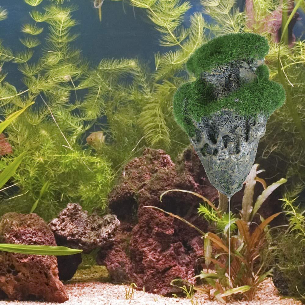 Decdeal Decorazione del Carro Armato di Pesci della Pomice della Pietra del Paesaggio Sospeso Acquario di Galleggiamento Artificiale della Roccia