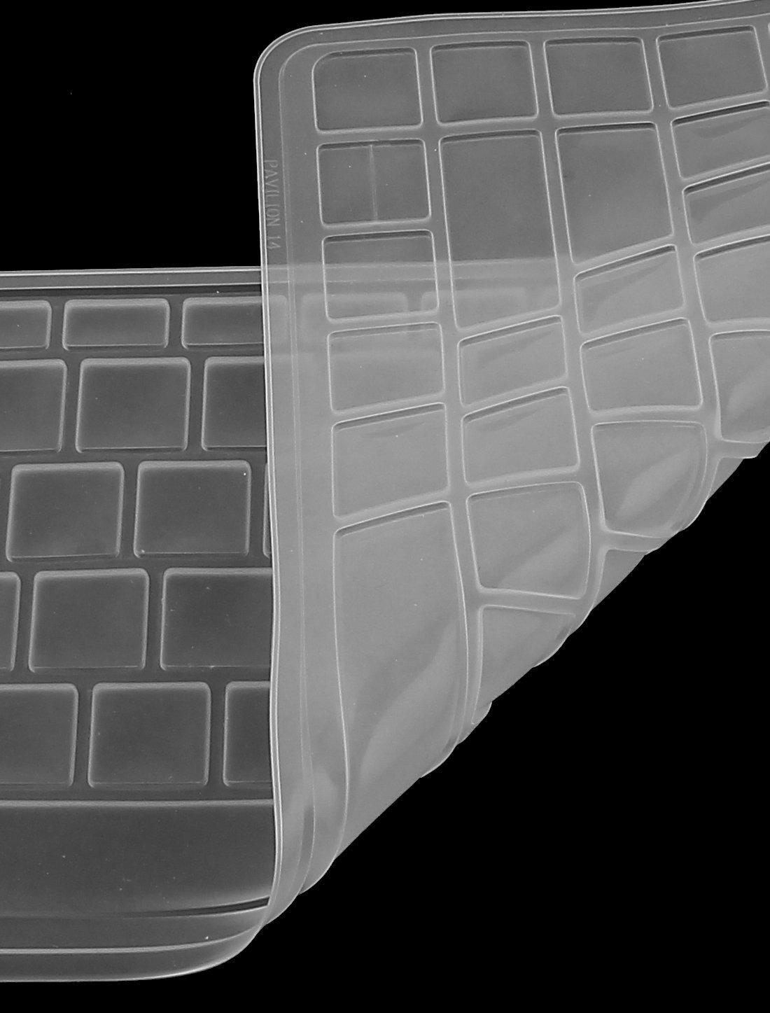 Amazon.com: eDealMax de silicona cubierta del teclado Proteja Shell Para el HP Pavilion Claro 14 Laptop: Electronics