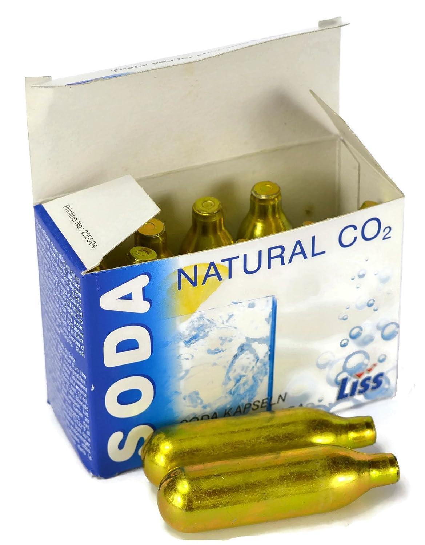 10 x Liss Natural CO2 8g Soda Capsules (Full Box)