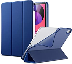 ESR Slim Smart Case for iPad Air 4 2020 10.9 Inch [Auto Sleep/Wake Cover] [Viewing/Typing Stand Modes] [Flexible TPU Back] Rebound Series - Navy Blue
