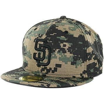 e8fa00352 New Era 59Fifty San Diego Padres Fitted Hat (Digi Ripstop Camo) Men's  Custom Cap