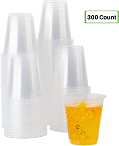 Party Bargains Clear Plastic Cups | Premium Quality & Heavy-duty Party Glasses for Juice, Soda, Ice Coffee, Tea | BPA Free Disposable Transparent Tumbler | 3 Oz. (300 Pk)