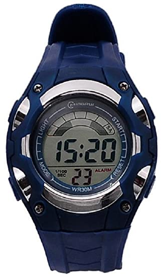 Montre Concept - Relojes digitales hombre Mingrui - Correa Plástico Azul - Dial Redondo Fondo Azul: Amazon.es: Relojes