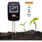 Medidor de Suelo, Tacklife MST01 3 en 1 Probador de Suelo, Medidor de Humedad, Medidor de Luz y Medidor de pH para Césped, Plantas, Hierbas etc, Herramientas de Jardinería (No Necesita Batería)