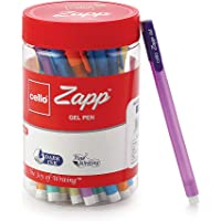 Cello Zapp Gel Pens - 25 pens Jar (Blue)