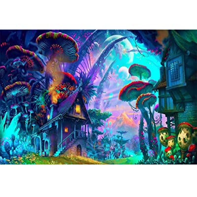 Jigsaw Puzzle 1000 Piece 3D Puzzle Poster Psychedelic Trippy Colorful Ttrippy Surreal Abstract Astral Art Office Home Room Wall Decor: Toys & Games