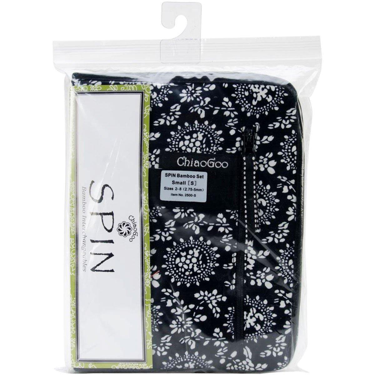 ChiaoGoo Spin Interchangeable Knitting Needle Set Small Needles: Size US 2 (2.75mm)-Size US 8 (5mm) Bundle with 1 Artsiga Crafts Project Bag 2500-S by ChiaoGoo Knitting Needles (Image #2)
