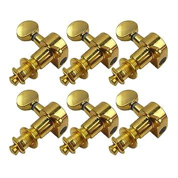 IKN cabezales de clavijas de afinación de oro color 6l máquina para zurdos guitarra eléctrica: Amazon.es: Instrumentos musicales
