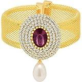 Sukkhi Kadaa Bracelet for Women (Golden) (12061KADI900-AMZ)