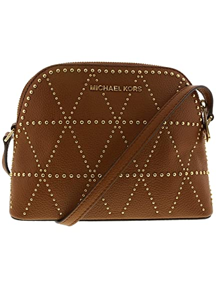 41b0661ef42760 Michael Kors Women's Adele Medium Dome Leather Crossbody Cross Body Bag -  Luggage: Michael Kors: Amazon.in: Shoes & Handbags