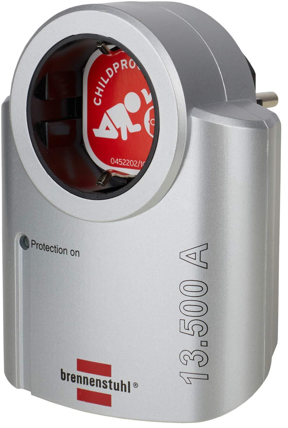 Brennenstuhl Primera Line Steckdosenadapter Mit Überspannungsschutz Adapter Als Blitzschutz Für Elektrogeräte Silber Schwarz Baumarkt