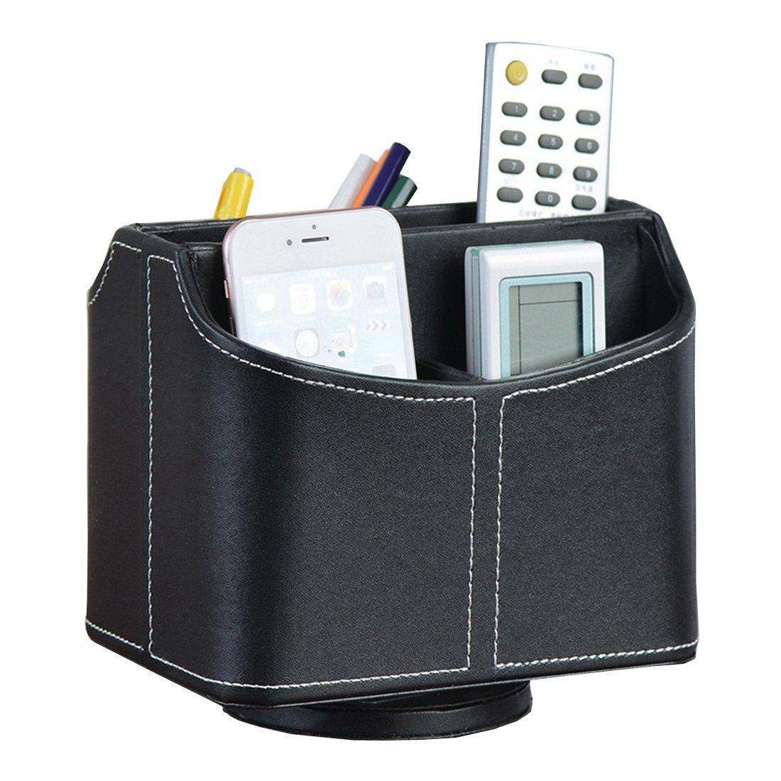 Giratorio caja de oficina almacenaje casa oficina de organizador de escritorio giratoria Bolígrafo Portalápices Contenedor Caja de joyería f62f5c