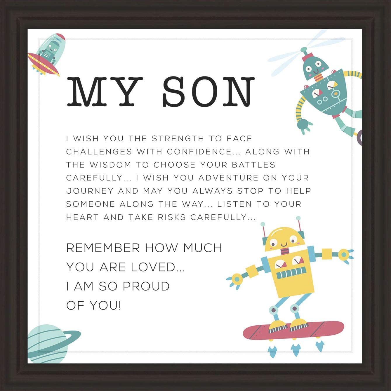 Gifts for Son   7x7 Tile Artwork   Fun Art Prints for Sons   Special Present for Room Decor   Gift for Graduation, Birthday or Any Special Occasion   Perfect for Men and Boys