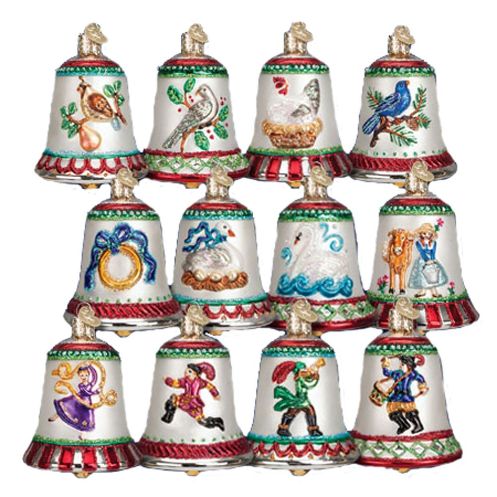 amazon com old world christmas twelve days of christmas bells