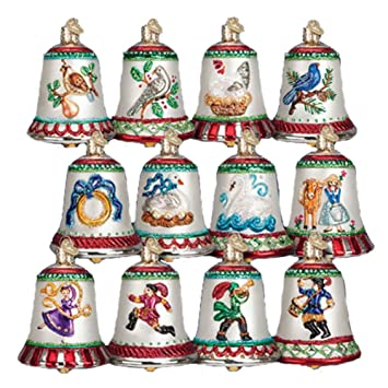 Amazon.com: Old World Christmas Twelve Days of Christmas Bells ...