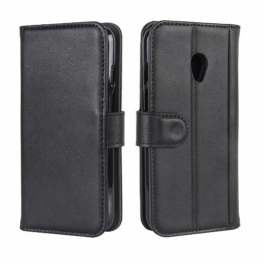 Amazon.com: Vodafone Smart Turbo 7 Case, DISLAND Folio Flip Premium Genuine Leather Kickstand Wallet Phone Case Cover for Vodafone Smart Turbo 7 with Card ...